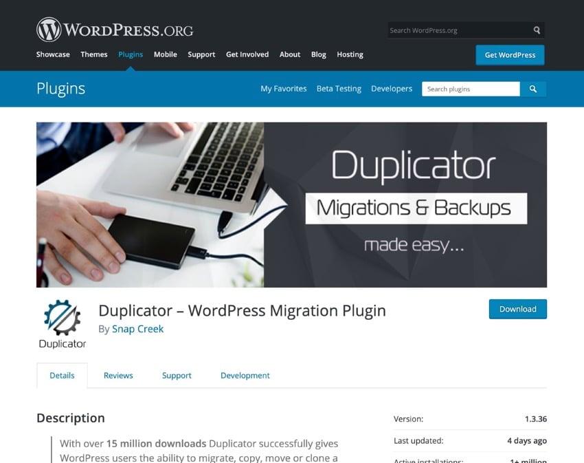 duplicator plugin