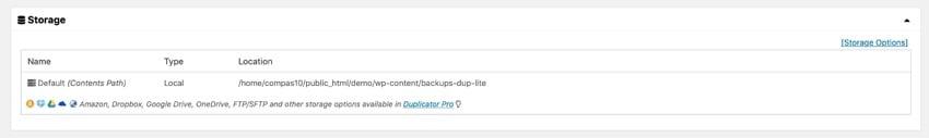 duplicator storage