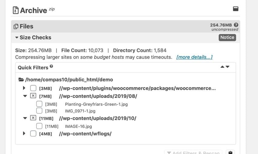 filtering large files