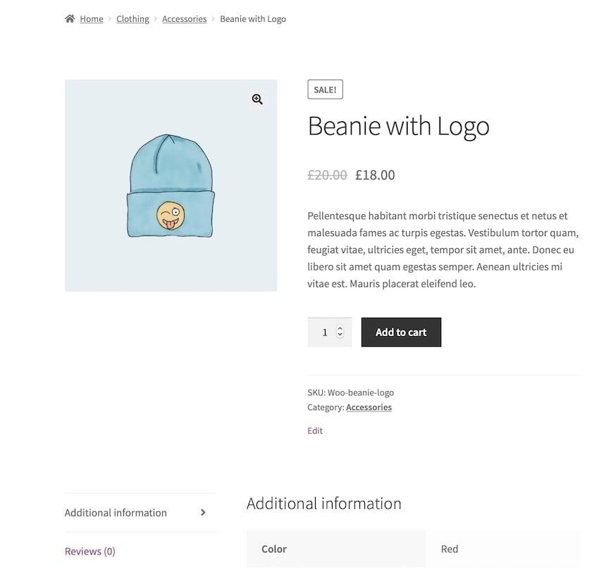 long description on product page