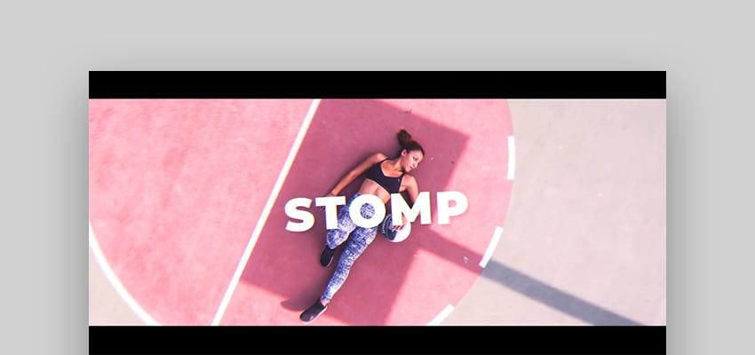 Rhythmic Stomp Intro - Company Intro Video Template