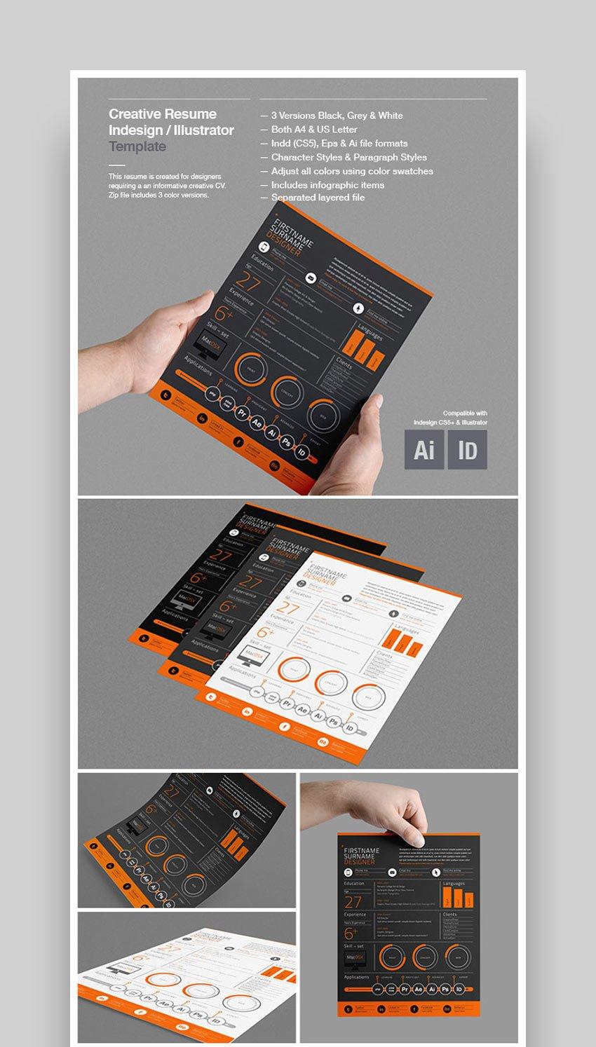 Creative Resume Template Design