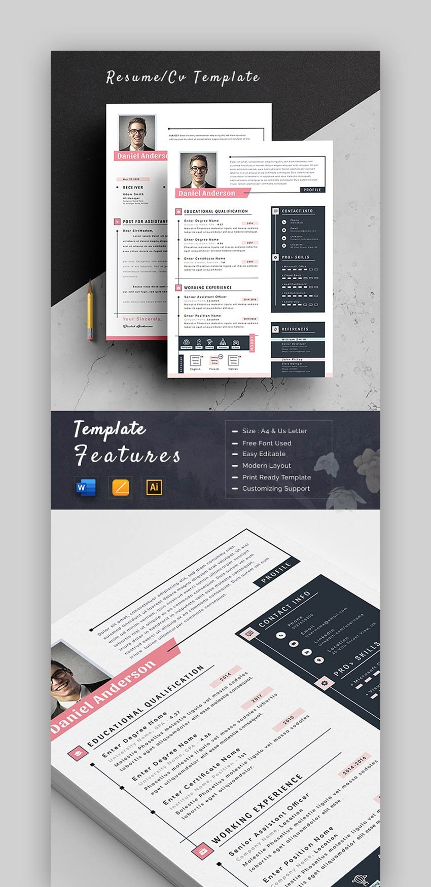 Pictorial Resume Template