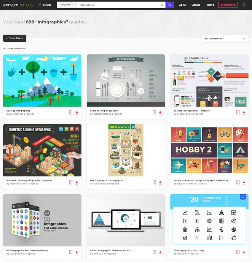 Infographic templates on Envato Elements - with unlimited access