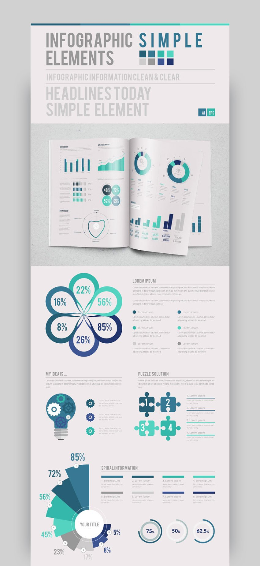 Infographic Simple - Template Design Kit