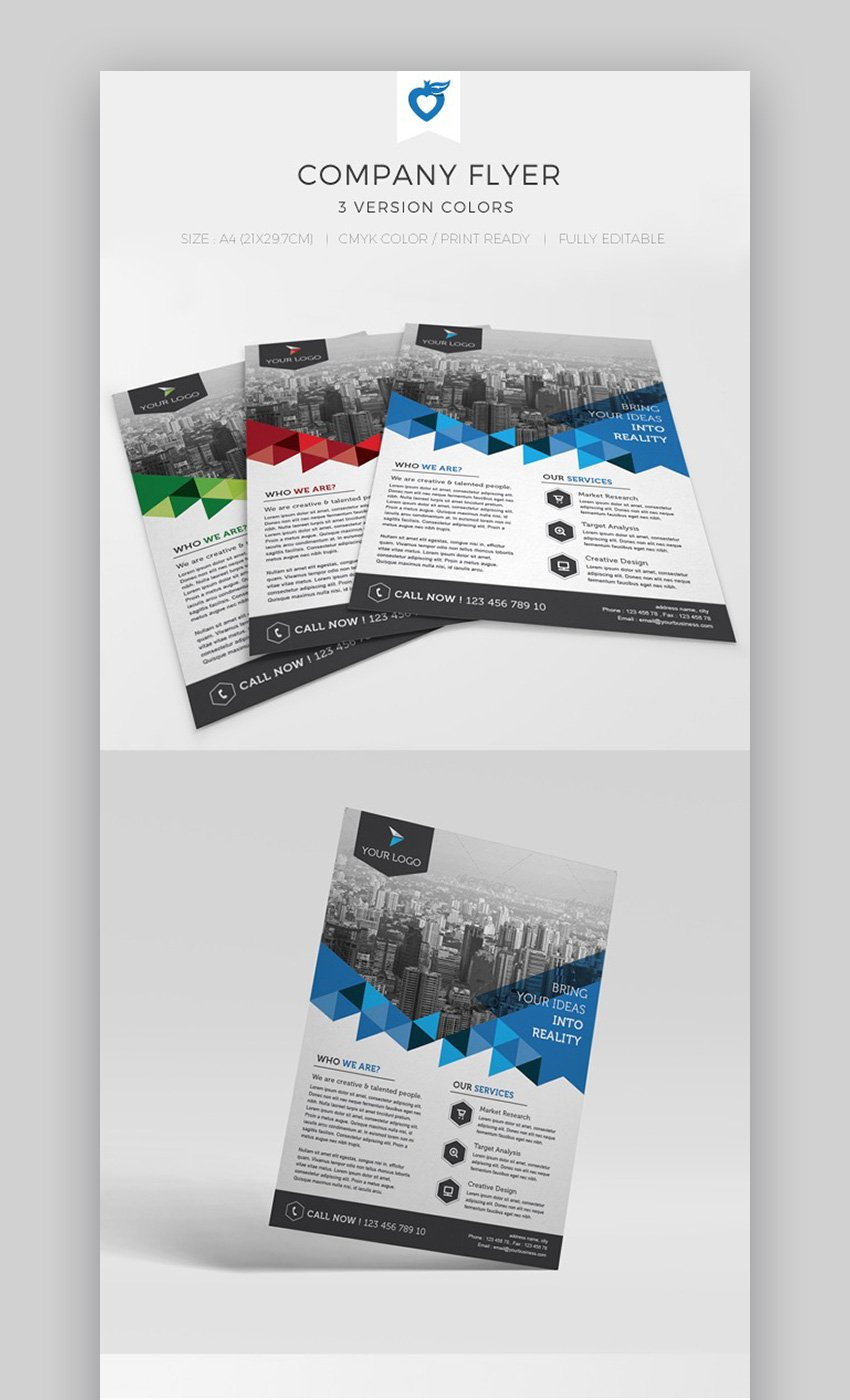 Company Advertising Flyer Design Template