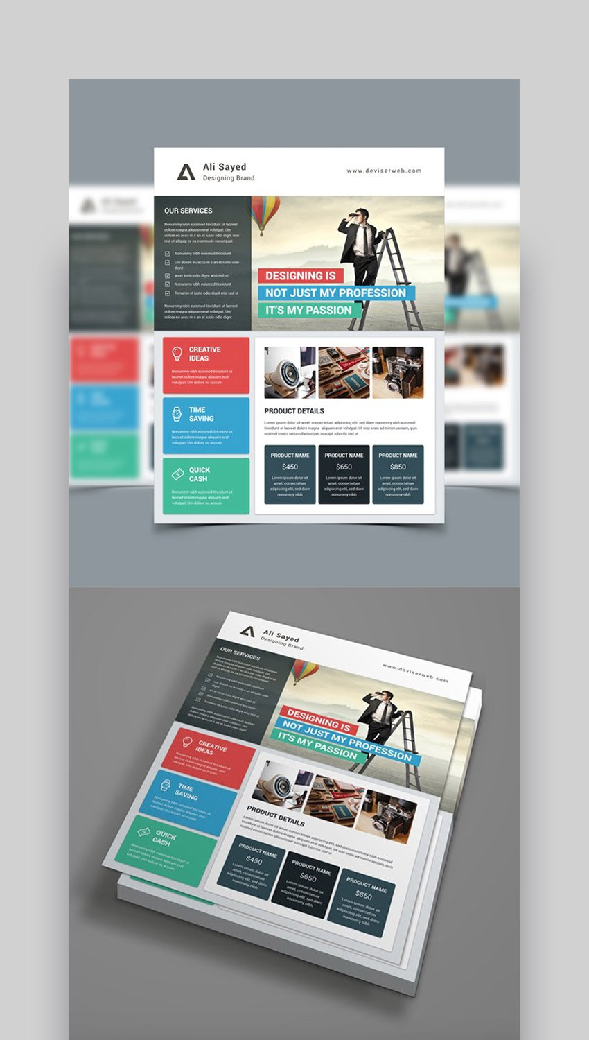 Material Style - Flyer Ideas for Business Pricing Flyer
