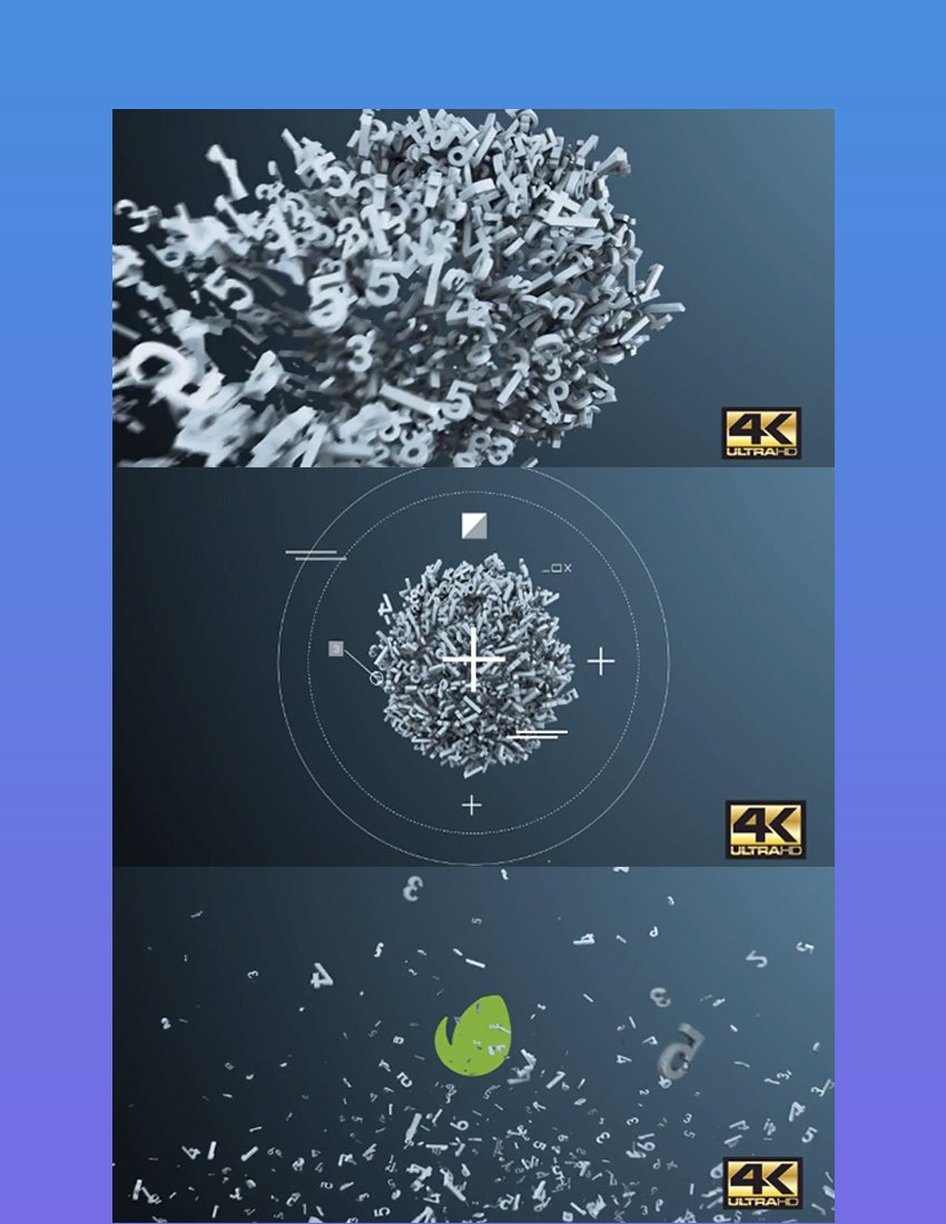 Numbers Particles AE Logo Opener