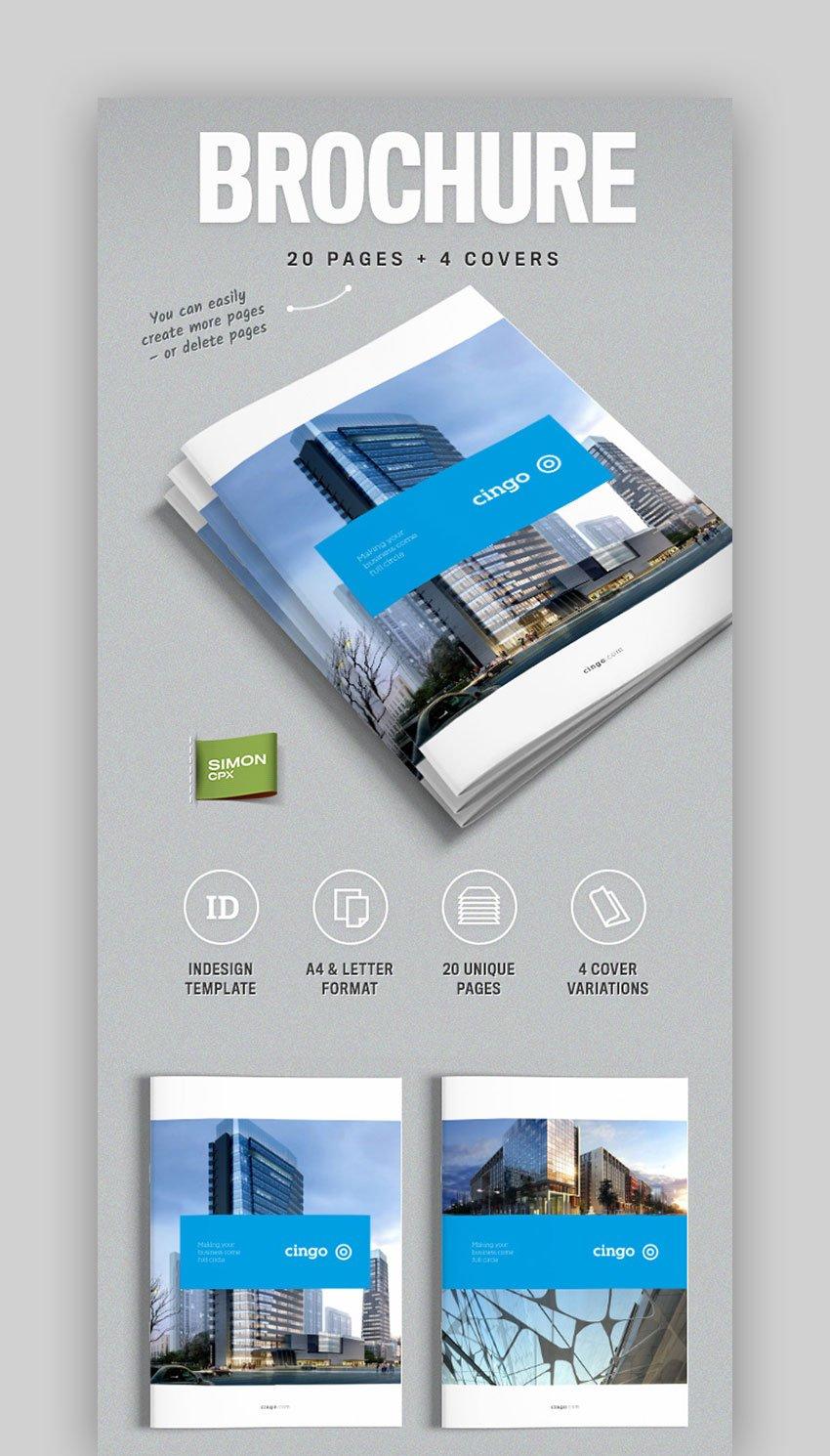 Brochure Template for InDesign  Cingo