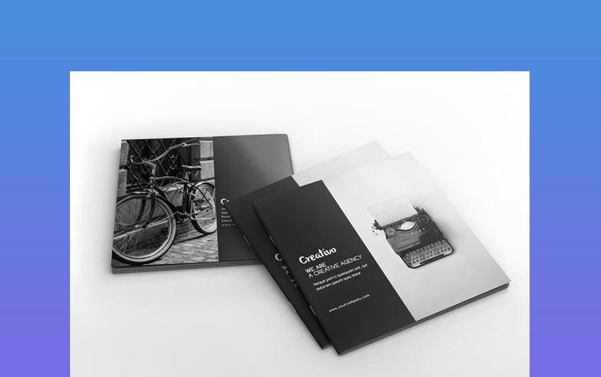 Creative Agency Square Portfolio Brochure InDesign Template