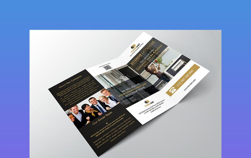 Georgyno  Elegant Trifold InDesign CC Brochure Templates