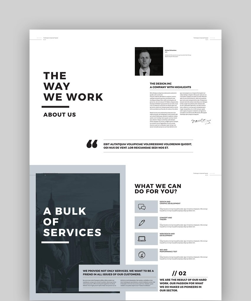 Proposal and Portfolio InDesign Template