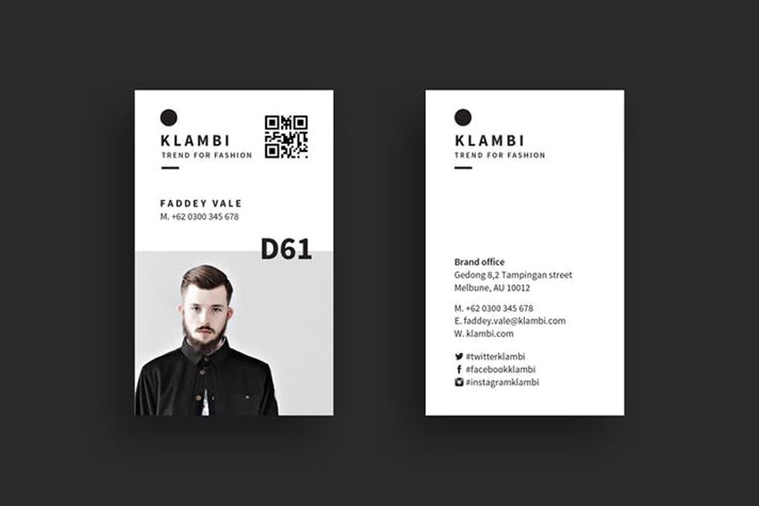 Business Card with Visual Impact