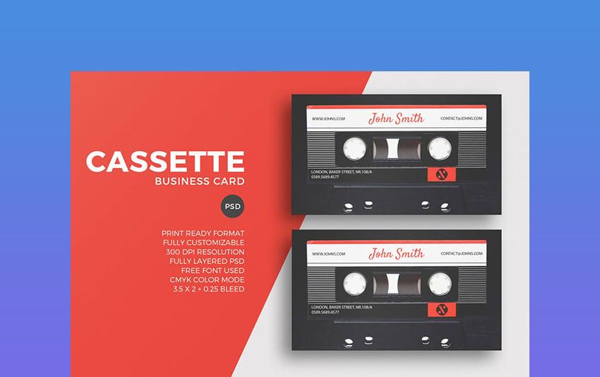 Cassette Unique Card Template