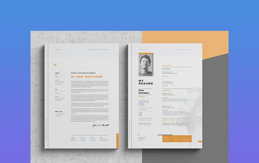 CV Format Word Template Cover Letter