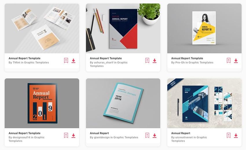 Best annual report design templates on Envato Elements 2019