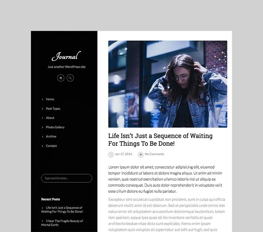 Journal - Elegant Responsive WordPress Blog Theme