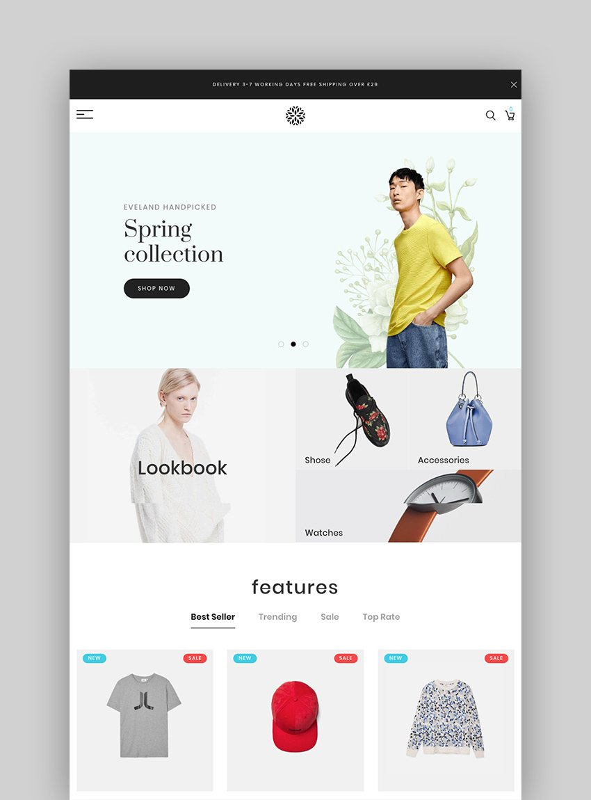 Eveland - Best Shopify Themes for Mobile