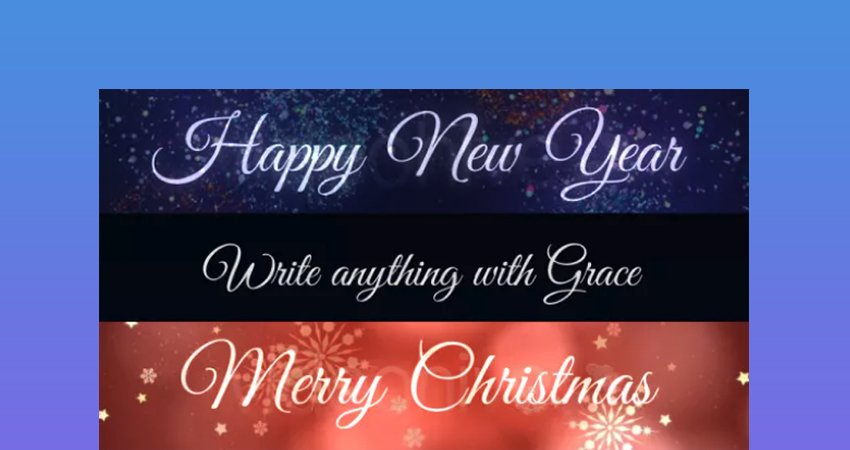 Grace  After Effects Cursive Writing