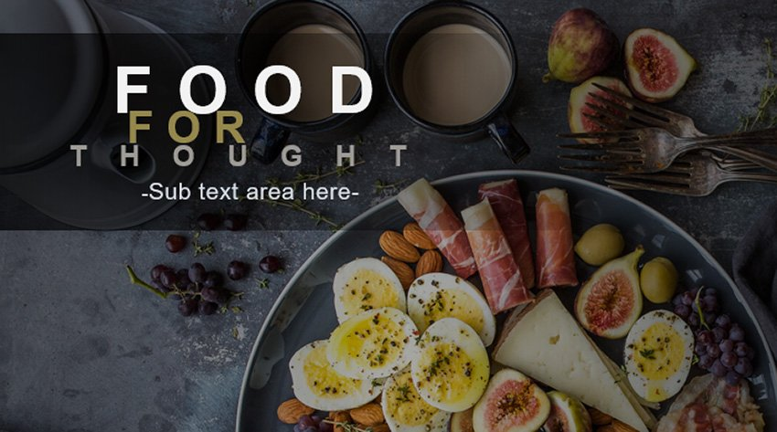 Animated Food for Thought - PowerPoint Animation Effects Free Download Template on SlideHunder