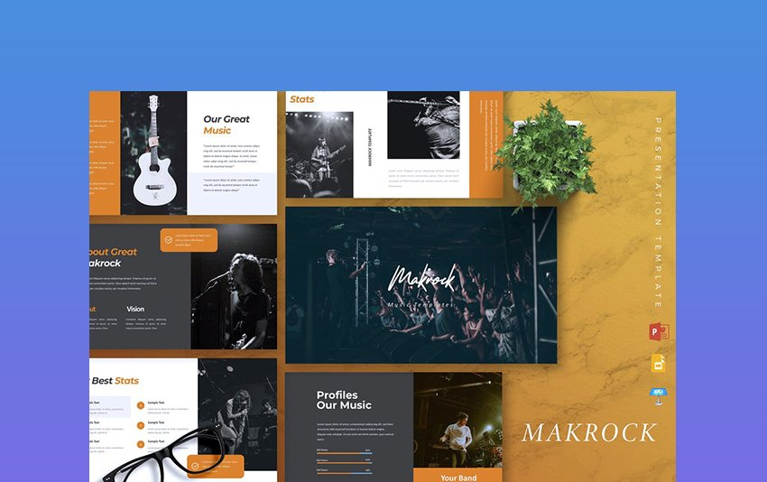 MAKROCK - PowerPoint Background Music Theme