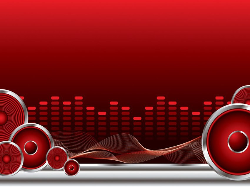 Red Music PowerPoint Templates
