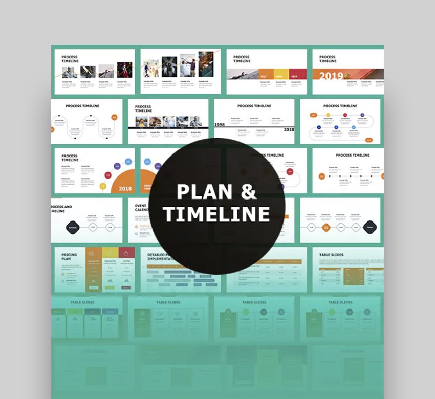Tables Plan Timeline Template Powerpoint