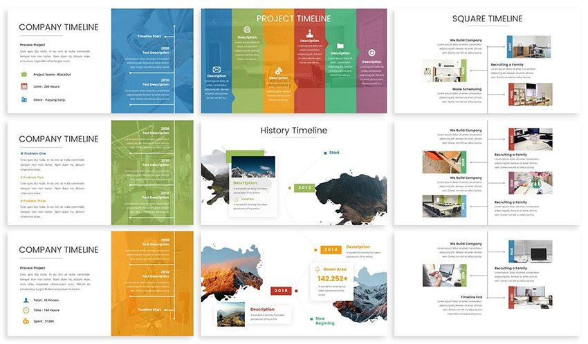 3 Examples of Single Roadmap Message from Premium Timeline PPT Template by Envato Elements