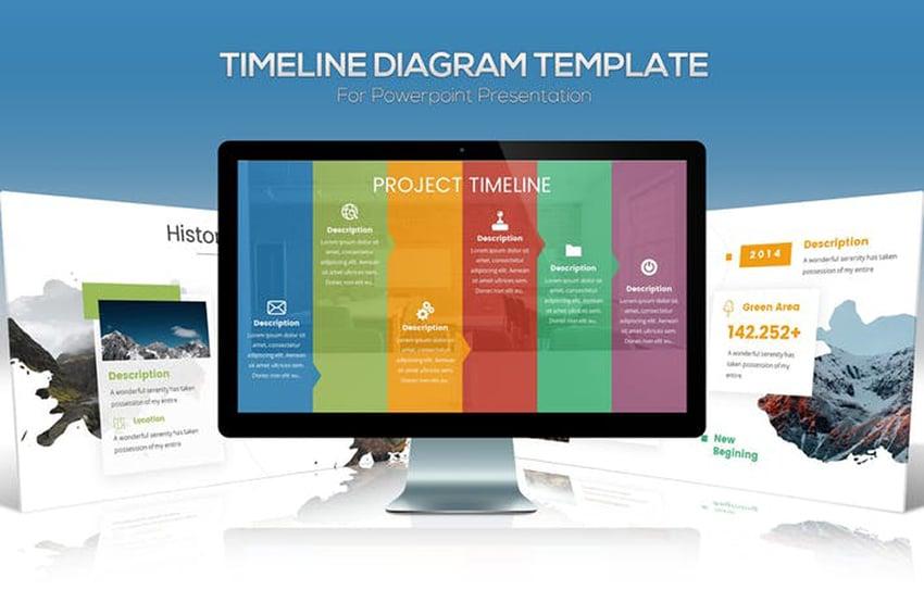 Premium Timeline Diagram Template on Envato Elements