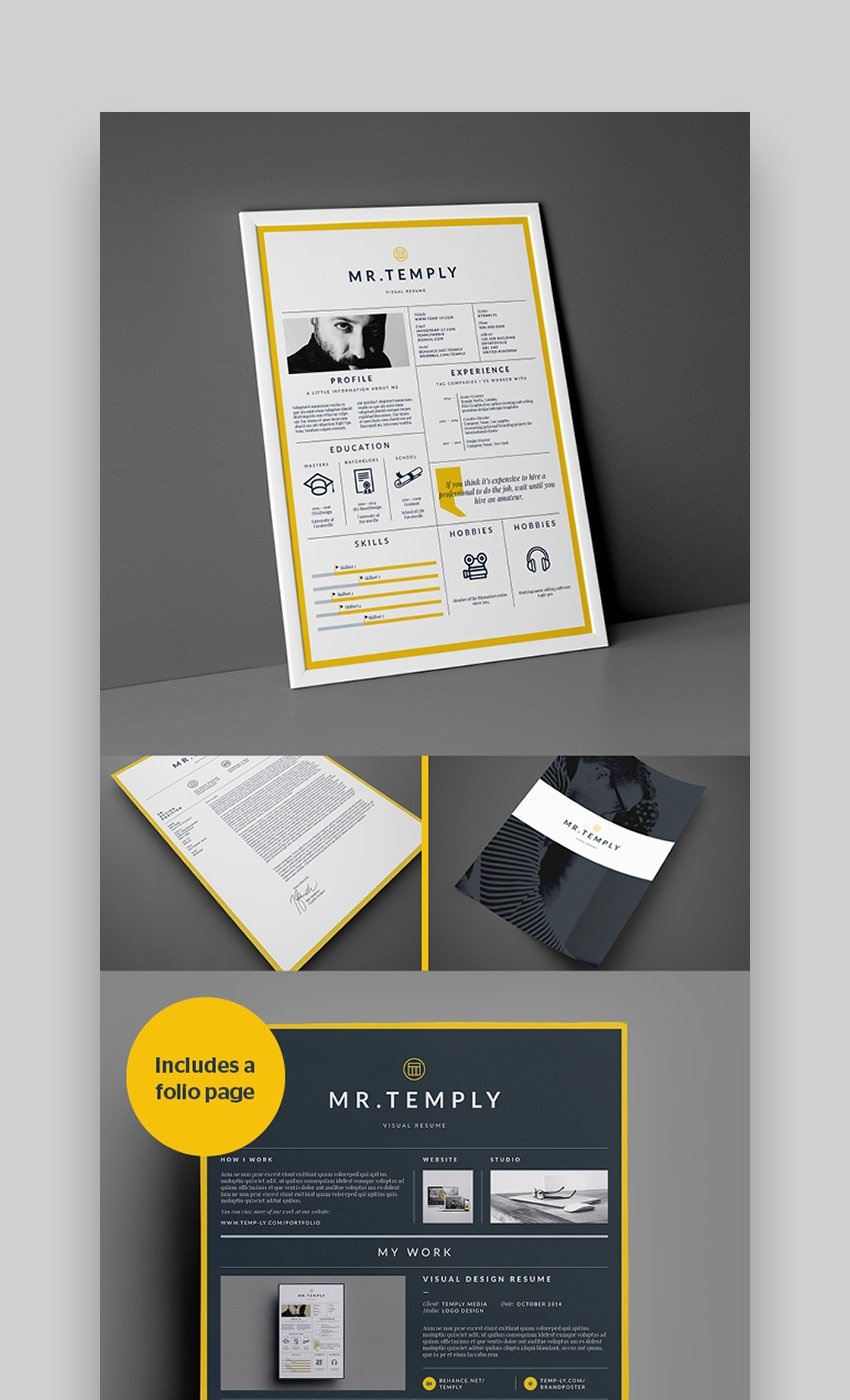 Visual InDesign Resume Template