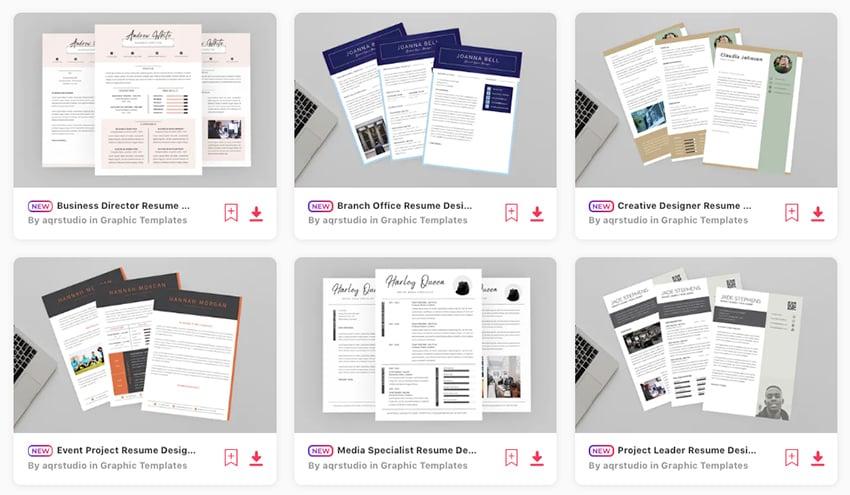 Best CV Designs 2020 on Envato Elements