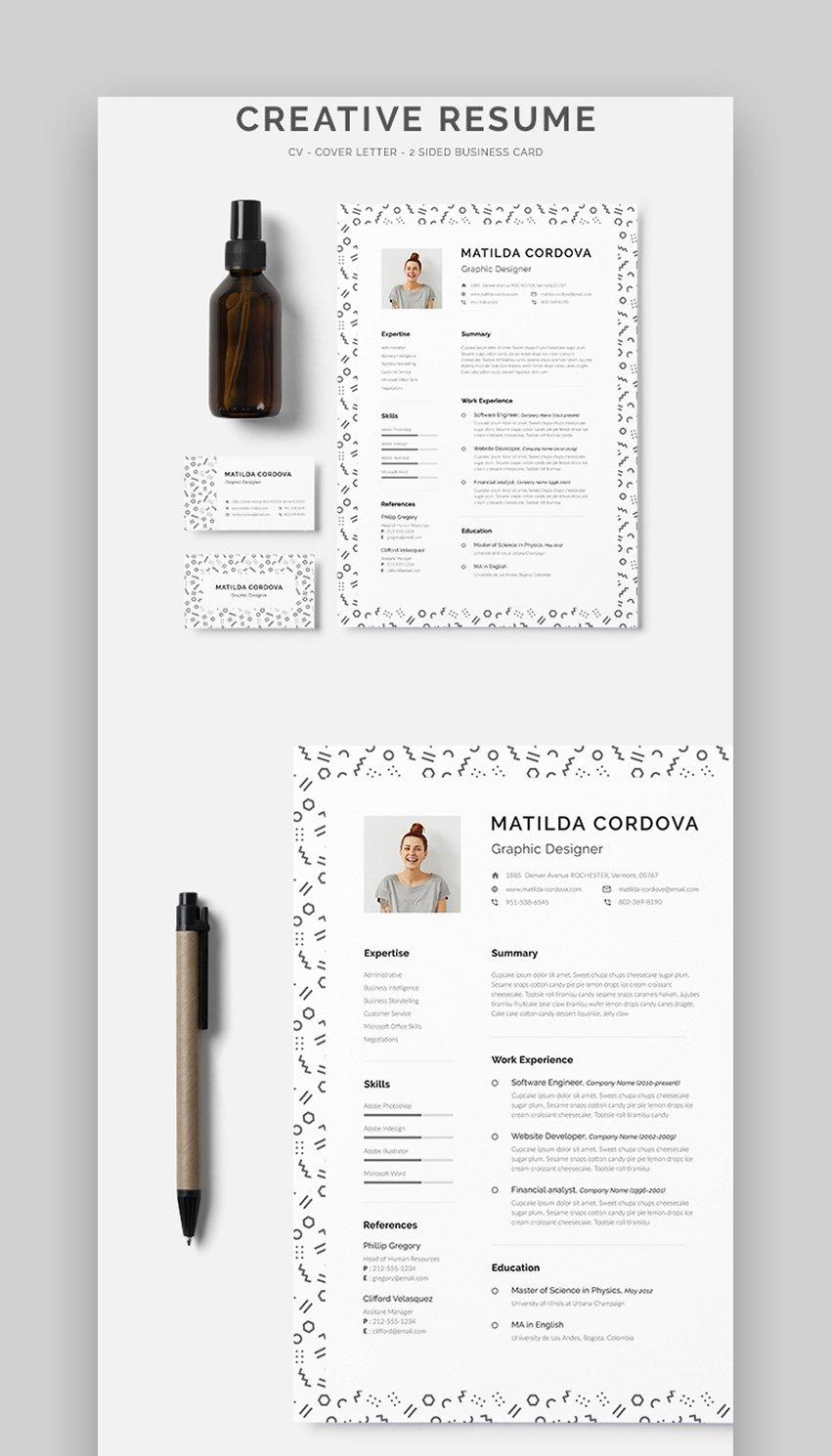 Simple Minimalistic Creative ResumeCV