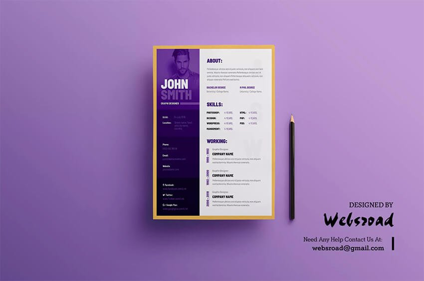 This is just one of the many visual resume templates available on Envato Elements for artists and other creatives