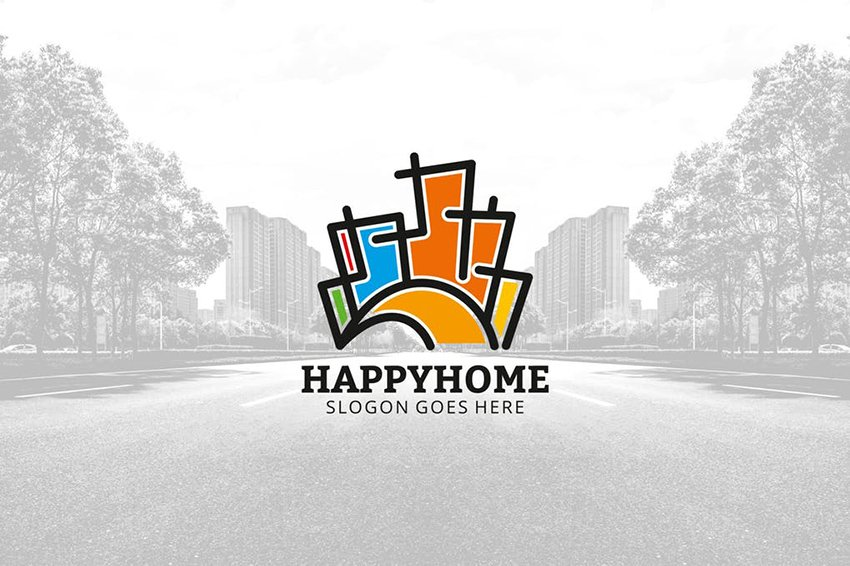 Eye-catching Real Estate company logo on Envato Elements
