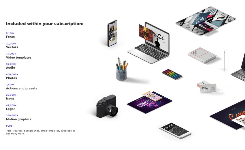 Get unlimited downloads from a massive digital warehouse of creative assets