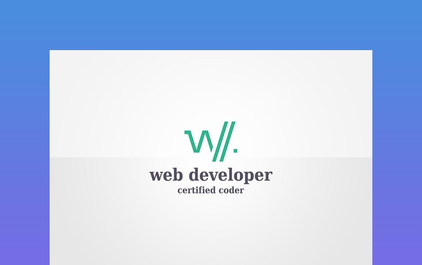Web Developer Logo Template