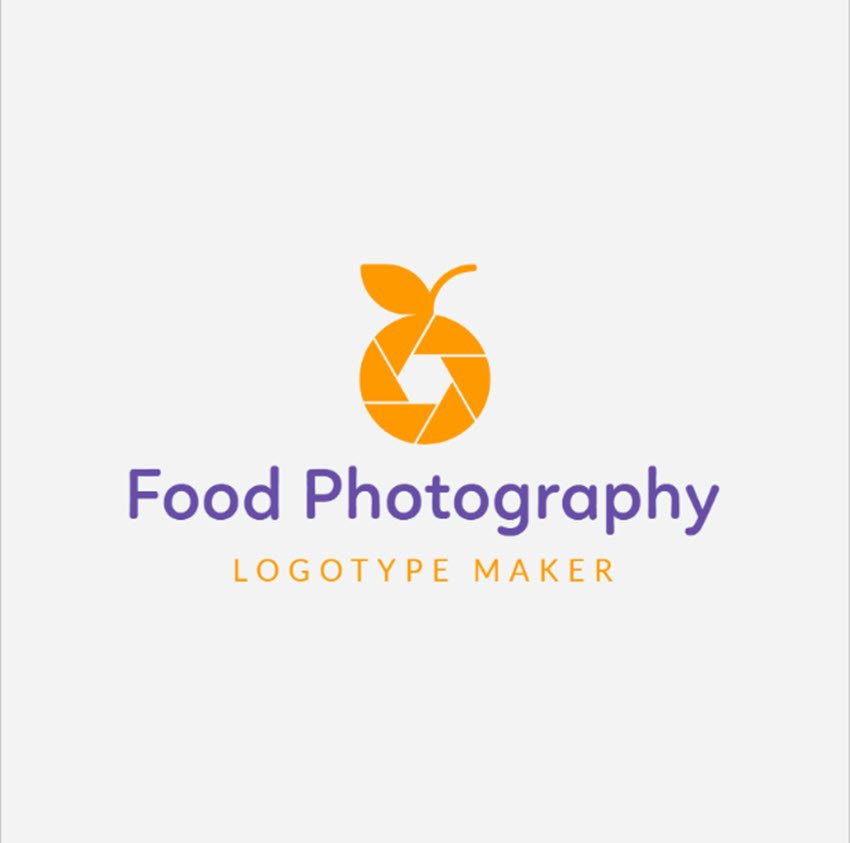 Abstract Food Photography Logo Maker