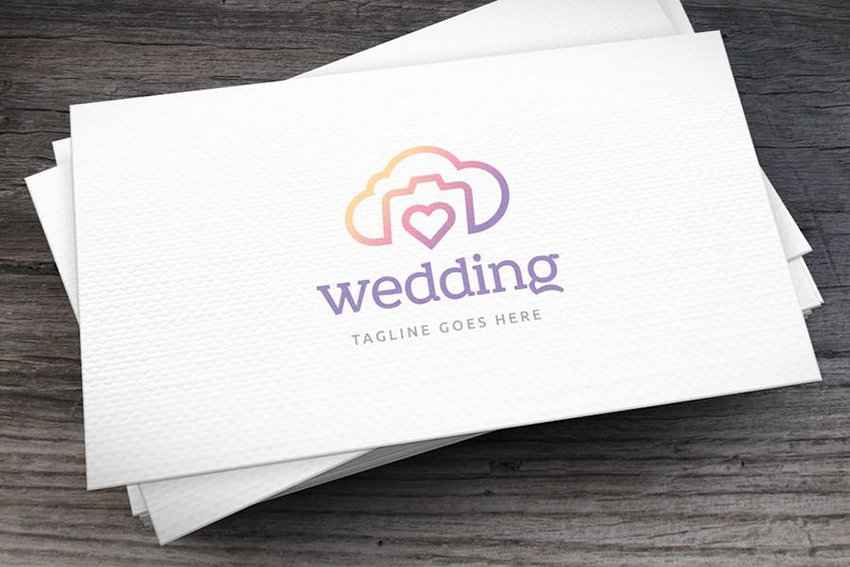Lovia Freelance Wedding Photographer Logo Template