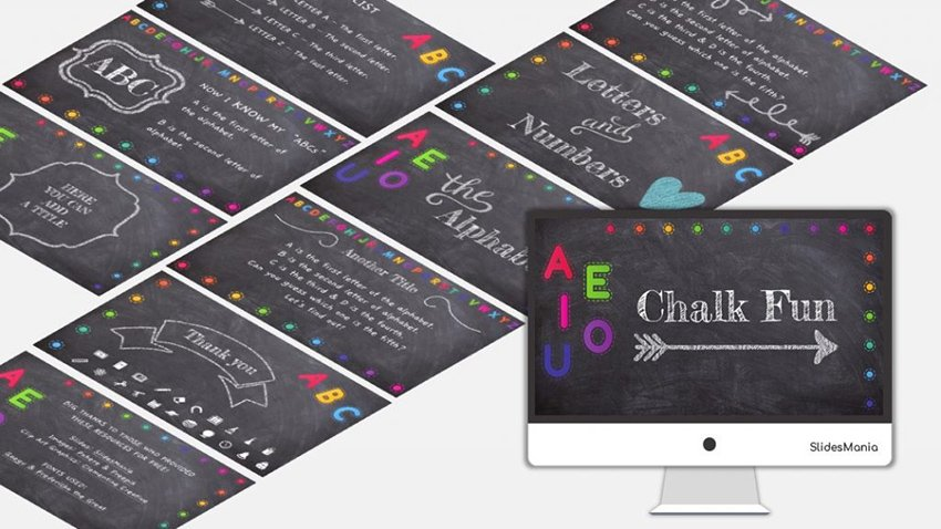 Chalk Fun Free Template for PowerPoint