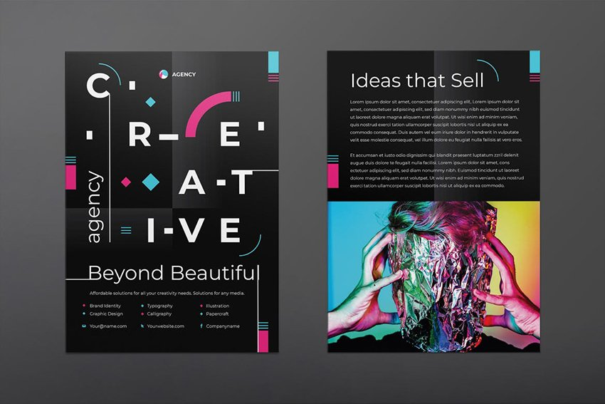 Creative Agency Flyer a premium flyer template on Envato Elements