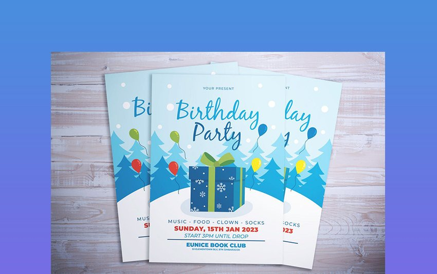 Winter Birthday Flyer