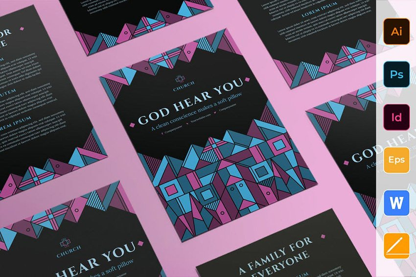 Church Flyer Template a premium professionally designed church flyer on Envato Elements