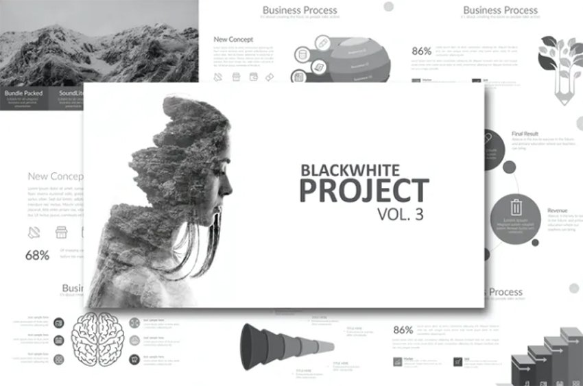 Black White Project Vol 3 Powerpoint