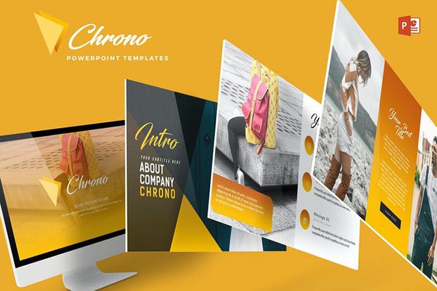 Chrono PPT Theme a premium pre-built template on Envato Element