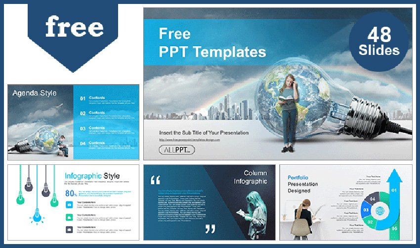 Global Education Software Microsoft PowerPoint Themes for Free
