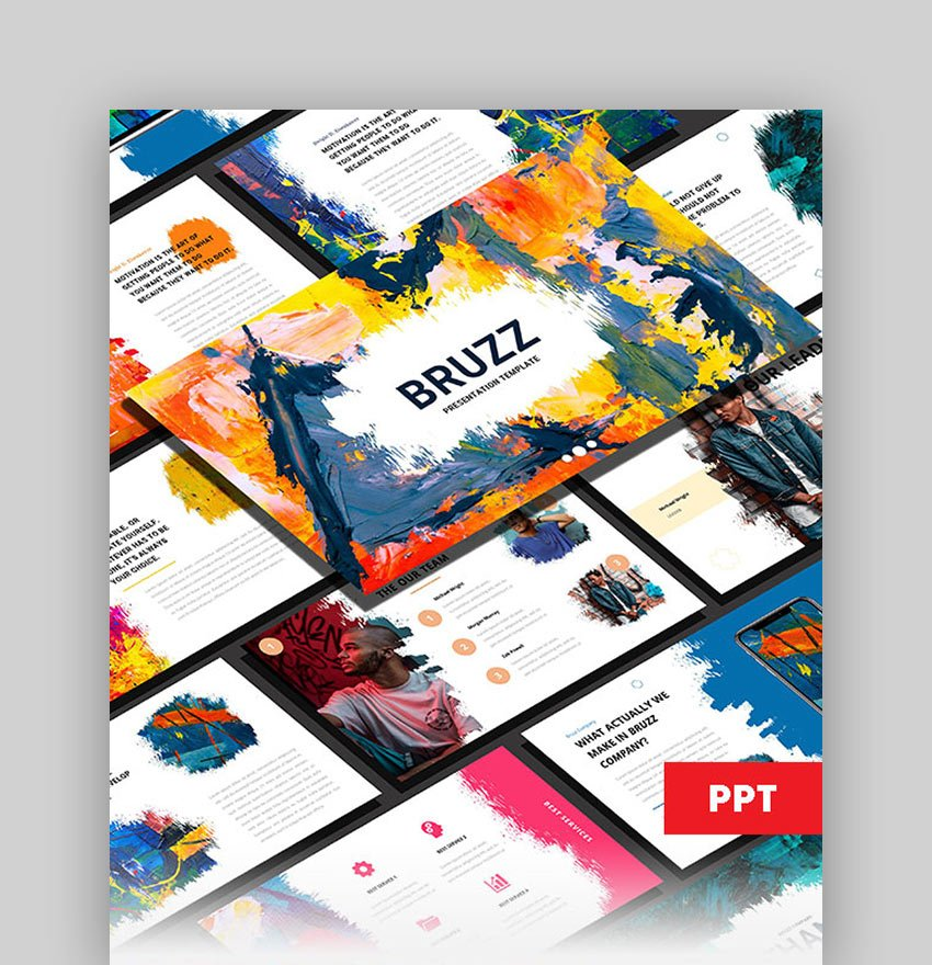 Bruzz - Abstract Background PowerPoint Template