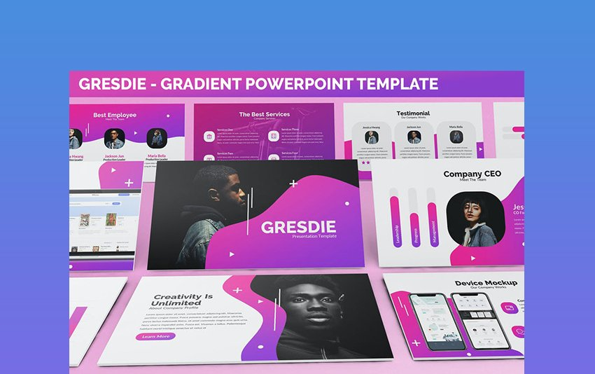 Gresdie - Gradient PowerPoint Abstract Example