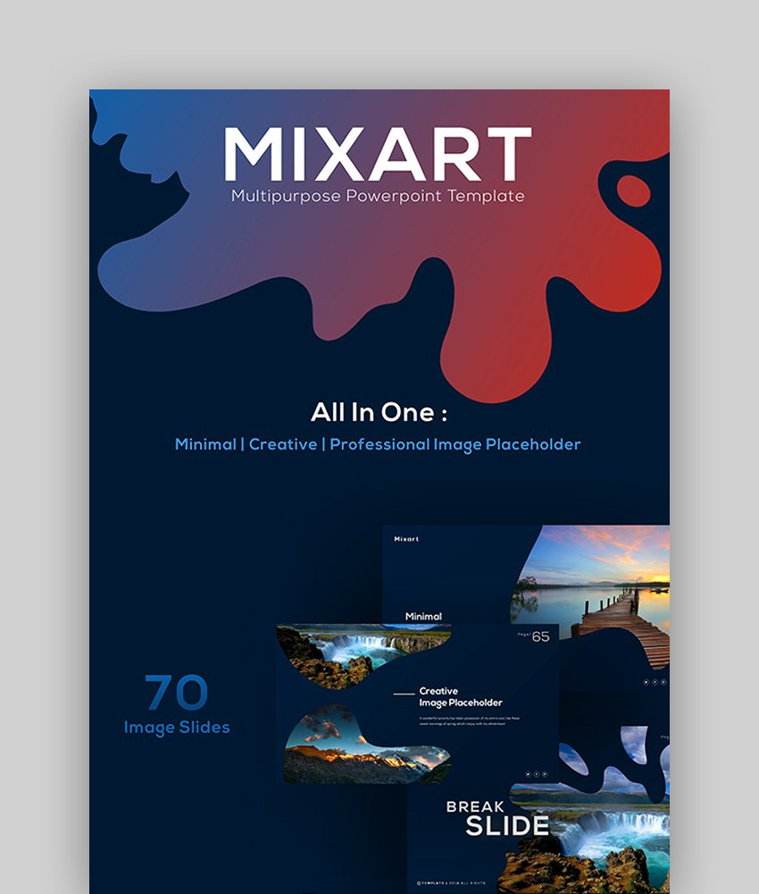 Mixart - Abstract PowerPoint Presentation Template