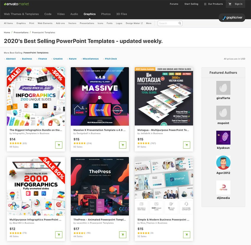 Find loads of premium customizable PPT templates on Envato Elements