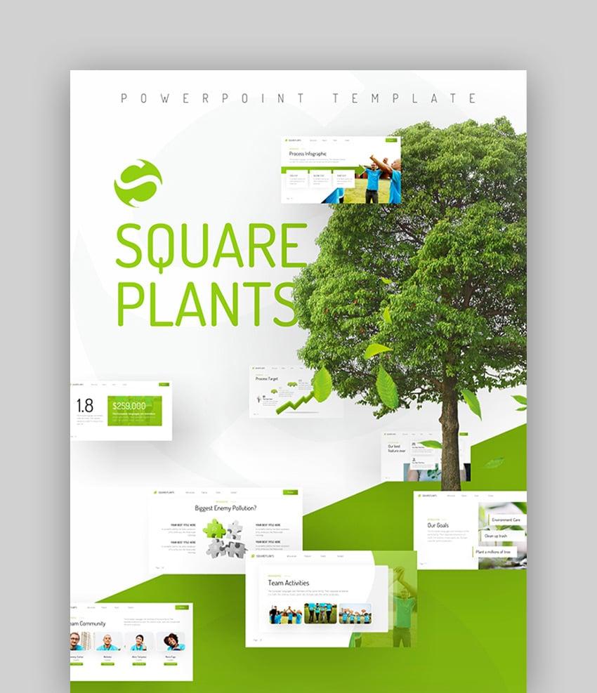 Squareplants - Green Presentation Theme